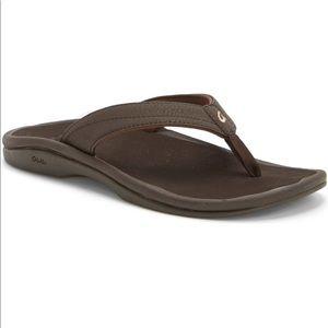 Olukai | Ohana Brown Cushioned Flip Flops 10